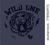 tiger  vector print. t shirt... | Shutterstock .eps vector #778503973