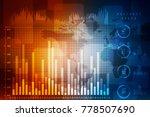2d rendering stock market... | Shutterstock . vector #778507690