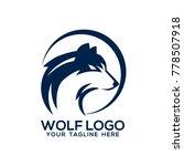 wolf logo design vector | Shutterstock .eps vector #778507918