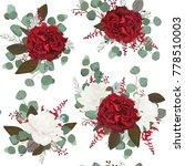 vector seamless floral pattern...   Shutterstock .eps vector #778510003