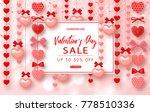 valentines day sale banner....   Shutterstock .eps vector #778510336