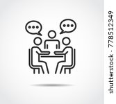 meeting icon vector illustration | Shutterstock .eps vector #778512349