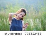 beautyful asian woman use hand...   Shutterstock . vector #778513453