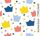 abstract crawn seamless pattern ... | Shutterstock . vector #778513630