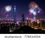 firework with cityscape...   Shutterstock . vector #778514554