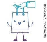 hand holding animated kawaii... | Shutterstock .eps vector #778514680