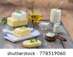 Food Fats  Set Of Dairy Produc...