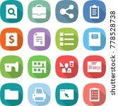 flat vector icon set   search...   Shutterstock .eps vector #778528738