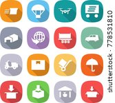flat vector icon set   delivery ... | Shutterstock .eps vector #778531810