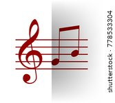 music violin clef sign. g clef... | Shutterstock .eps vector #778533304