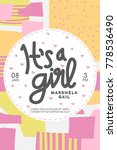 baby shower invitation. it's a... | Shutterstock .eps vector #778536490