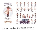 sheriff ready to use character... | Shutterstock .eps vector #778537018