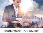 the double exposure image of... | Shutterstock . vector #778537309