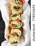 fresh tortilla wraps with... | Shutterstock . vector #778543693