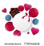 sweet banner with lollypops and ... | Shutterstock .eps vector #778546828