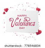 happy valentine day vector... | Shutterstock .eps vector #778546834
