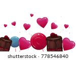 sweet banner with lollypops and ... | Shutterstock .eps vector #778546840