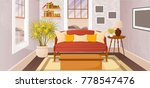 colorful living room of a house ... | Shutterstock .eps vector #778547476