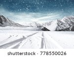 Winter Road Background And Fre...