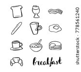 vector set of the hand drawn... | Shutterstock .eps vector #778561240