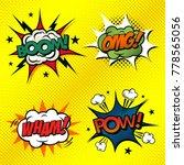 set of comic book arts. boom ...   Shutterstock .eps vector #778565056