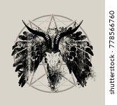 vector illustration with skull... | Shutterstock .eps vector #778566760