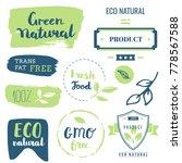 fresh  organic  gluten free ... | Shutterstock .eps vector #778567588