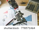 charts of financial instruments ... | Shutterstock . vector #778571464
