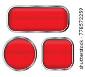 red web button set isolated on... | Shutterstock .eps vector #778572259