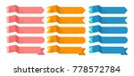 flat vector ribbons banners... | Shutterstock .eps vector #778572784