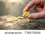 the pure gold ore found in the... | Shutterstock . vector #778573030