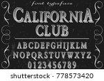 font alphabet script typeface... | Shutterstock .eps vector #778573420