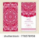 wedding invitation cards... | Shutterstock .eps vector #778578958