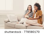 frightened young women relaxing ... | Shutterstock . vector #778580170