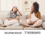 happy female friends chatting... | Shutterstock . vector #778580890