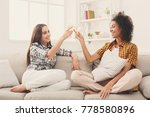friends toasting with... | Shutterstock . vector #778580896