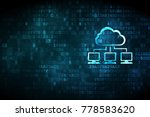 cloud technology concept ... | Shutterstock . vector #778583620