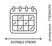 calendar linear icon. schedule. ... | Shutterstock .eps vector #778584250