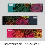 ethnic banners template with... | Shutterstock .eps vector #778585900