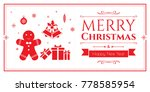 set of christmas icons in... | Shutterstock .eps vector #778585954