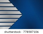 metal blue perforated... | Shutterstock .eps vector #778587106