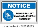 pool and spa lift for disabled... | Shutterstock .eps vector #778593529
