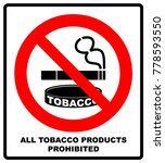 all tobacco products prohibited ... | Shutterstock .eps vector #778593550