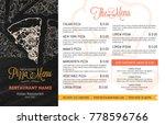 restaurant menu template with... | Shutterstock .eps vector #778596766