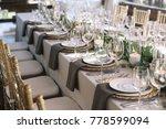 wedding. banquet. the chairs... | Shutterstock . vector #778599094