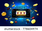 jackpot lucky wins golden slot... | Shutterstock .eps vector #778604974