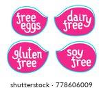 set of vector sticker for... | Shutterstock .eps vector #778606009