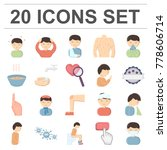 the sick man cartoon icons in...   Shutterstock .eps vector #778606714