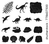 different dinosaurs black icons ... | Shutterstock .eps vector #778607500