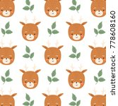 cute simple pattern with... | Shutterstock .eps vector #778608160